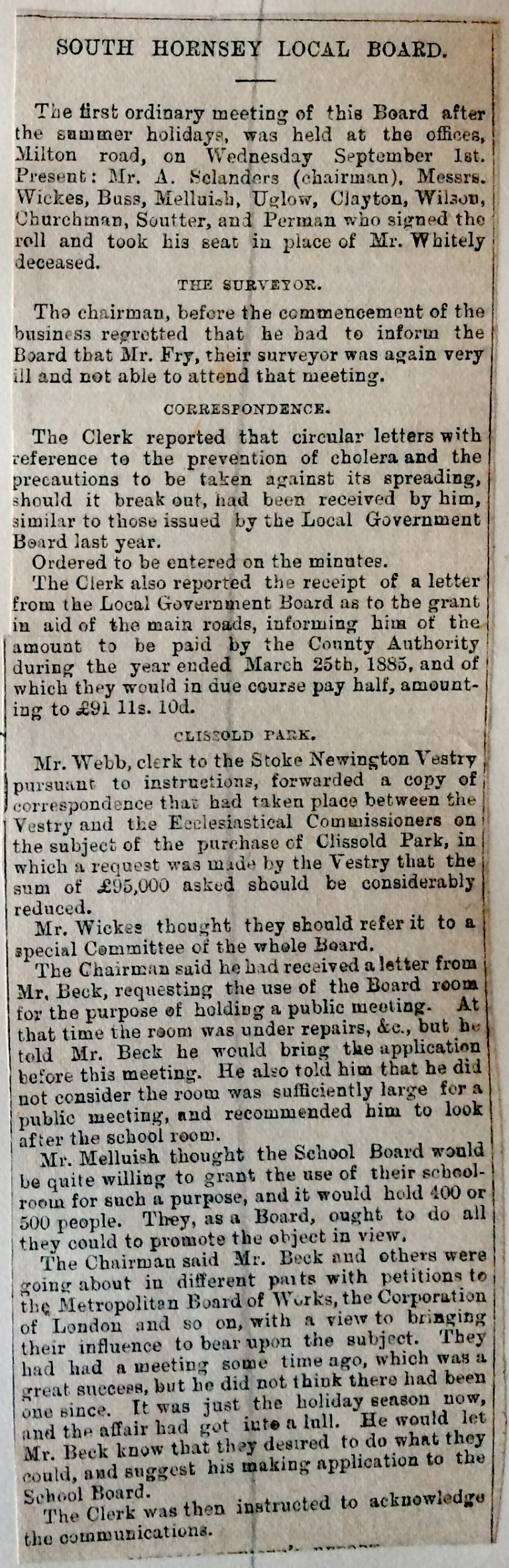 01_09_1886 NEWS CLIPPING South Hornsey Local Board meeting .JPG