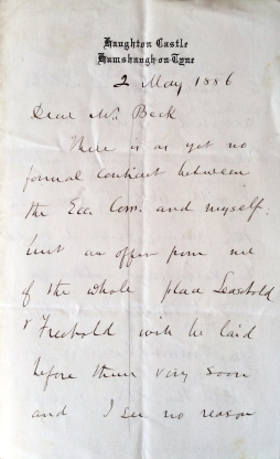 02_05_1886 Letter George Crawshay part 1
