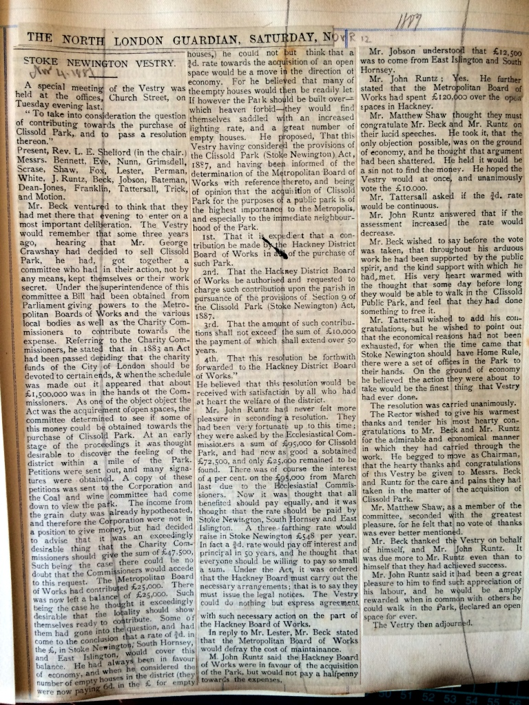 04_11_1887 NEWS CLIPPING SN Vestry meeting minutes [CHECKED]