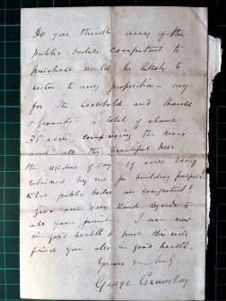 13_11_1884 LETTER George Crawshay part 3