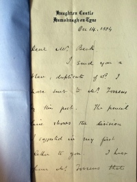 14_12_1884 LETTER George Crawshay part 1