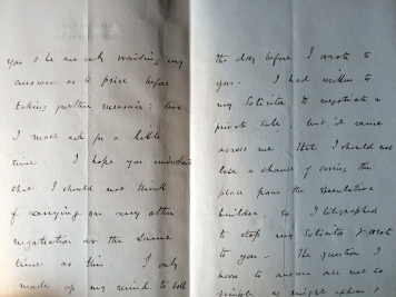 14_12_1884 LETTER George Crawshay part 2