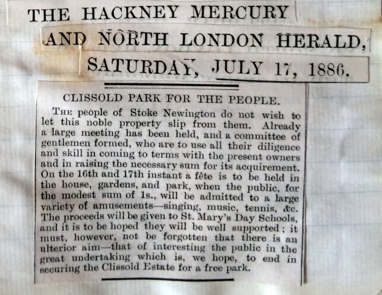 17_07_1886 NEWS CLIPPING The Hackney Mercury and North London Herald [CHECKED]