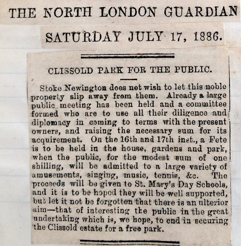 17_07_1886 NEWS CLIPPING The North London Guardian [CHECKED]