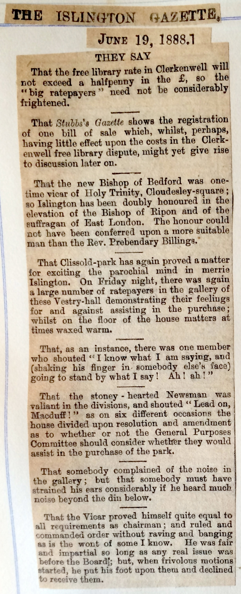 19_06_1888 NEWS CLIPPING The Islington Gazette 2.JPG
