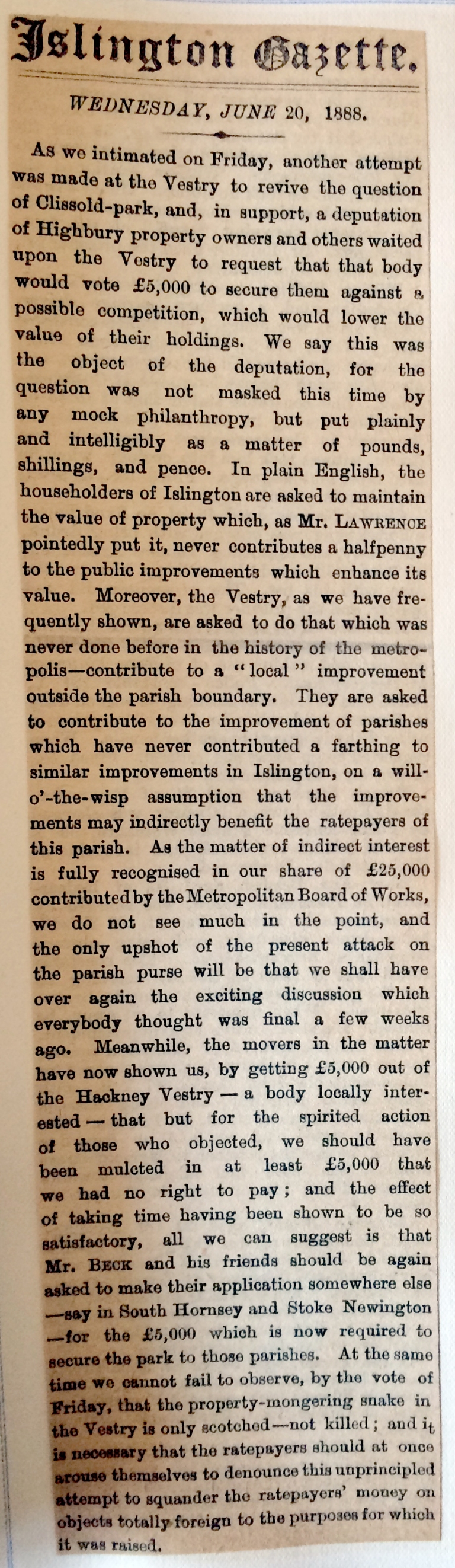 20_06_1888 Islington Gazette [CHECKED]