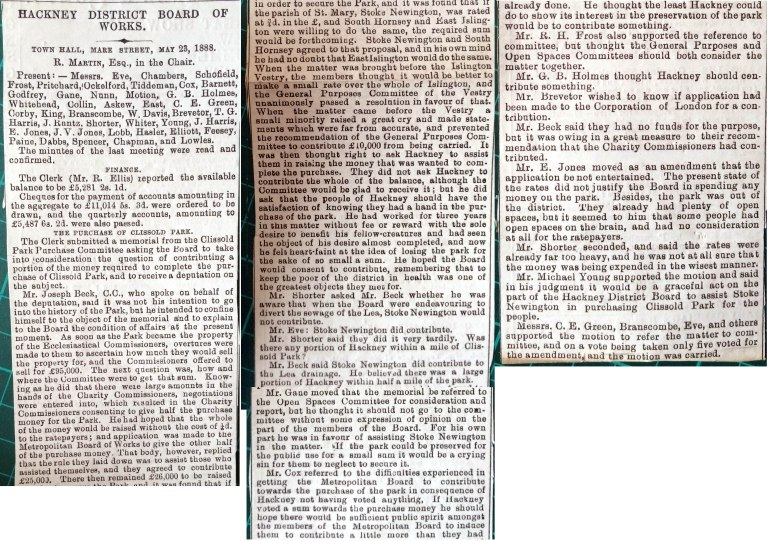 23_05_1888 NEWS CLIPPING Hackney District Board of Works [CHECKED]