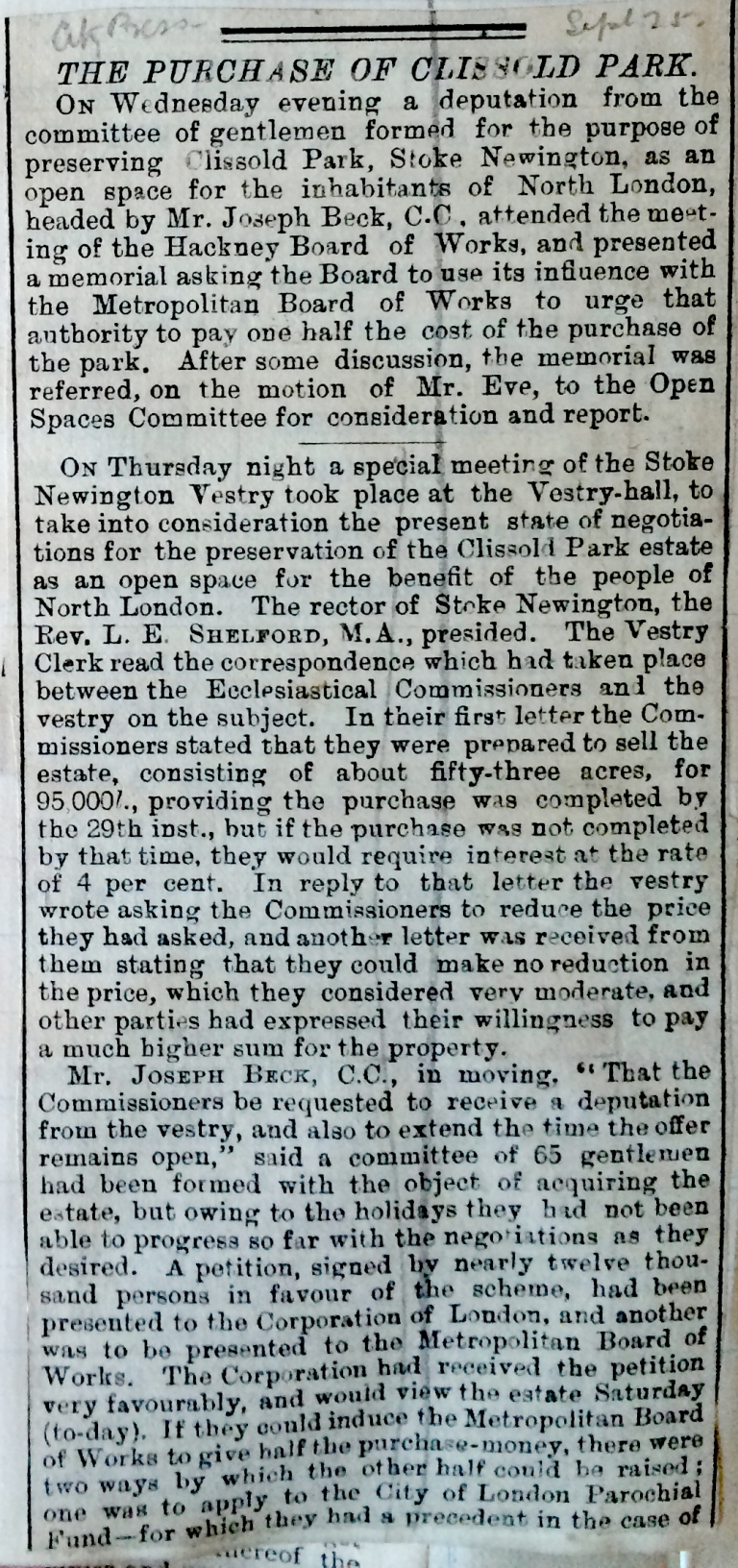 25_09_1886 NEWS CLIPPING Hackney Board of Works.JPG