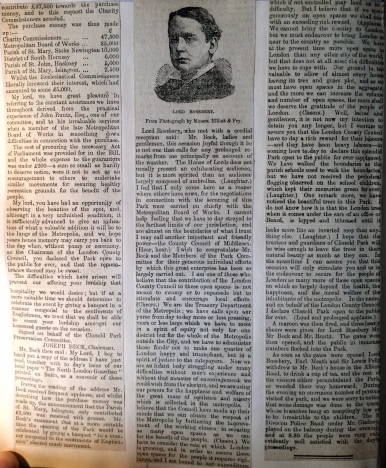27_07_1889 NEWS CLIPPING The opening of Clissold Park part 2