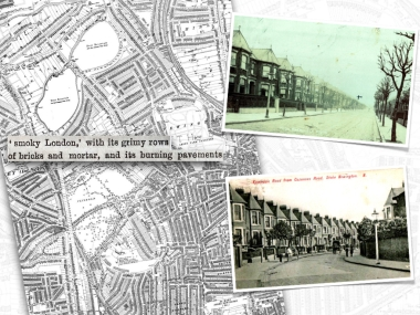 Streets covered former open spaces during the building boom of the 1860-1890s