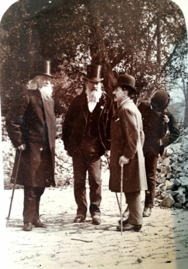 Joseph Beck (middle) and John Runtz, his fellow campaigner (left)