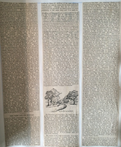 July 1889 NEWS CLIPPING The Opening of Clissold Park part 2